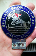 Vintage 1960s  BRITISH SHOW JUMPING  ASSOCIATION Enamel  Car Badge