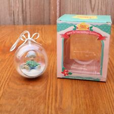 Precious Moments Boy w Tree Ornament 1994 111058 In Original Box