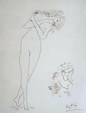 VERTES Marcel dessin original Encre de chine Nue feminin (authenticité garantie)