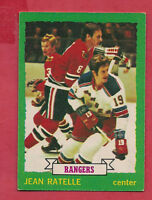 1973-74 OPC # 141 RANGERS JEAN RATELLE  CARD