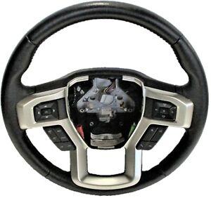 OEM 2017-2021 Ford F-250 Black Leather Steering Wheel LC3Z-3600-FB