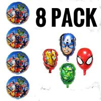Avengers Super Heroes Birthday Party Balloons 8 Pack decoration FREE SHIPPING!