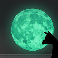 30cm Luminous Moon Glow in the Dark Wall Stickers Moonlight Home Decor*