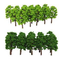 40PCS 8cm 1:150 Scale Plastic Green Model Tree Train Railway Diorama Scenery