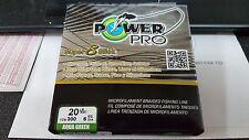 1 Spool Power Pro Super 8 Slick Aqua Green 20 Pound - 300 Yards NEW