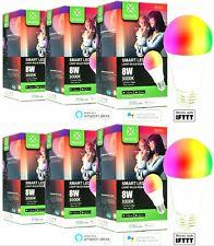 6x Smart Lampe E27, 8W entspricht 60W, 2,4GHz WLAN, Alexa Google Home, WOOX Tuya