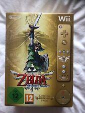 Nintendo Wii Zelda Skyward Sword Sealed big box limited edition wiimote
