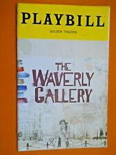 Sept. 2018 - The Golden Theatre Playbill - The Waverly Gallery - Joan Allen