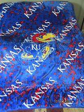 "NEW KANSAS UNIVERSITY  63"" x 86"" Soft Raschel Plush Throw Blanket NIP!!"