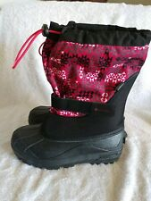 Columbia Womens Black Red Waterproof Snow Boots Size 6 - 7 M NWOB