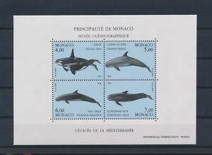 LO16727 Monaco whales fish sealife good sheet MNH