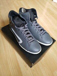 Diesel Grey Klubb High-top Leather Sneakers - UK size 8