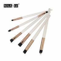 White & Rose Gold Makeup Brushes Blending Eye Shadow Dual Blusher Soft Kabuki