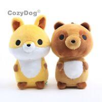 Lovely Fox Plush Keychian Toy Mini Soft Stuffed Animal Doll Pendant 4'' Cute