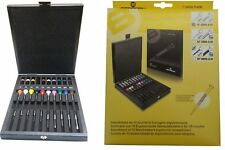 Bergeon Ergonomic Set of 10 Screwdrivers with Replacement Blades, 0.5mm to 3mm