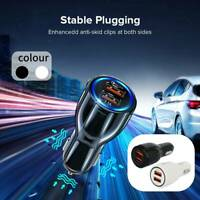 QC 3.0 Chargeur voiture rapide Adaptateur double port USB Prise universelle 1 DE