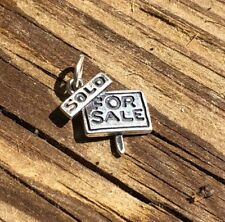 Sterling Silver For Sale Sign Sold Charm/Pendant Real Estate  .925 NWOT