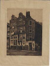 AMSTERDAM, Waterlooplain, Orignalradierung von Dirk Harting, 1911