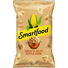NEW SMARTFOOD POPCORN SWEET & SALTY KETTLE CORN FLAVORED 7.75 OZ 100% WHOLEGRAIN