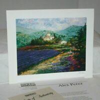Alex Perez Lavender in Provence 2002 Park West Signed Seriolithograph, COA