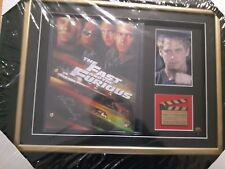 Fast and Furious Scene Script, Autograph and Certificate Custom Framed