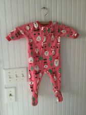 Santa Claus Footed Pajamas Carters 6 Month EUC Christmas PJs
