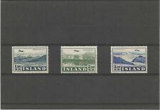 ISLAND airmail n° 27/9 MNH ** value 65 €