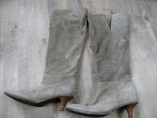 PREGO schöne Wildlederschlupfstiefel beige Gr. 38 TOP ZC917