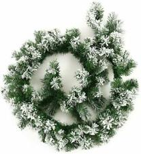9FT/2.7M Christmas Garland Decorations Xmas Fireplace Tree Pine Cone green