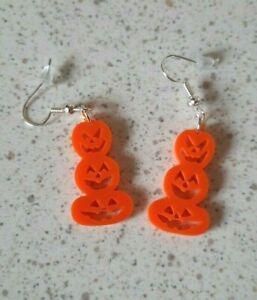 Pumpkin stack Halloween Earrings Novelty Dangle