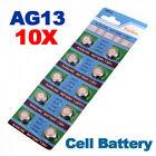 10 X AG13 LR44 SR44 L1154 357 A76 QUALITY ALKALINE BUTTON / COIN CELLS BATTERIES