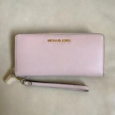c6fcb5175423 NEW Michael Kors Ballet Leather Zip Around Continental Leather Wallet  Wristlet