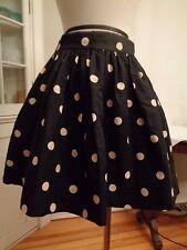 KATE SPADE New York polka deco dot full skirt cotton & silk women's size 2