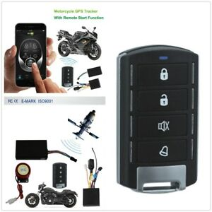 Motorcycle GSM GPS Tracker + One Way Remote Engine Start Keyless Entry System