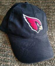 Arizona Cardinals black Snapback baseball hat signed By # 34
