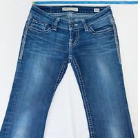 BKE Buckle Stella Boot Bootcut Stretch Jeans Womens Size 24R Blue Meas. 26x30