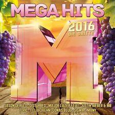 MEGAHITS 2016-DIE DRITTE  Sigma,Jason Derulo,Justin Bieber,Major Lazer 2 CD NEU