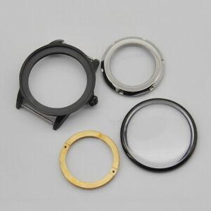41mm stainless steel PVD Case scrub fit miyota 82 series ETA 2836 mens watch