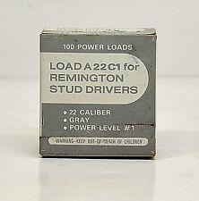 "- 100ct REMINGTON STUD DRIVERS #1 ""GREY"" Single Shot Load A22C1"