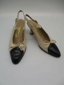 SALVATORE FERRAGAMO  slingback heels sz 5.5