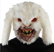 Scary Bunny Mask Gruesome Rabid Halloween Costume Vacuum Formed Bloody Teeth