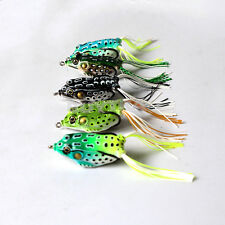 5pcs Toad Soft Plastic Hollow Fishing Lure Crankbait Hooks Bass Bait Frog Popbo