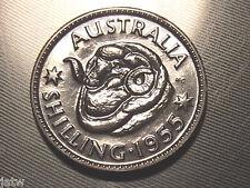 Australia.  1955 Shilling - Proof..    Mintage - 1200..