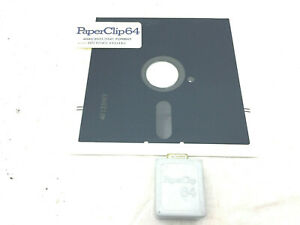 Paperclip 64 Vintage Word Processor Floppy w/Dongle UNTESTED