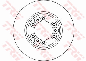 TRW Brake Rotor Front DF4029S fits Holden Rodeo TF 3.2 4x4 (TFS25), TF 3.2 i ...
