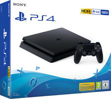 Black Playstation 4 PS4 500GB Slim CONSOLE NEW & SEALED