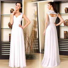 Women Bridesmaid Dresses Chiffon Long Evening Wedding Prom Party Gowns 09672