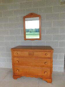 Virginia House Maple Cottage Style Dresser & Mirror
