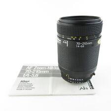 Nikon AF zoom Nikkor 70-210mm 1:4-5.6 obiettivo Lens + istruzioni