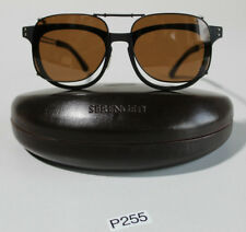 SERENGETI ENZO SUNGLASSES BLACK GUNMETAL POLARIZED BROWN DRIVERS 8059 (P255)